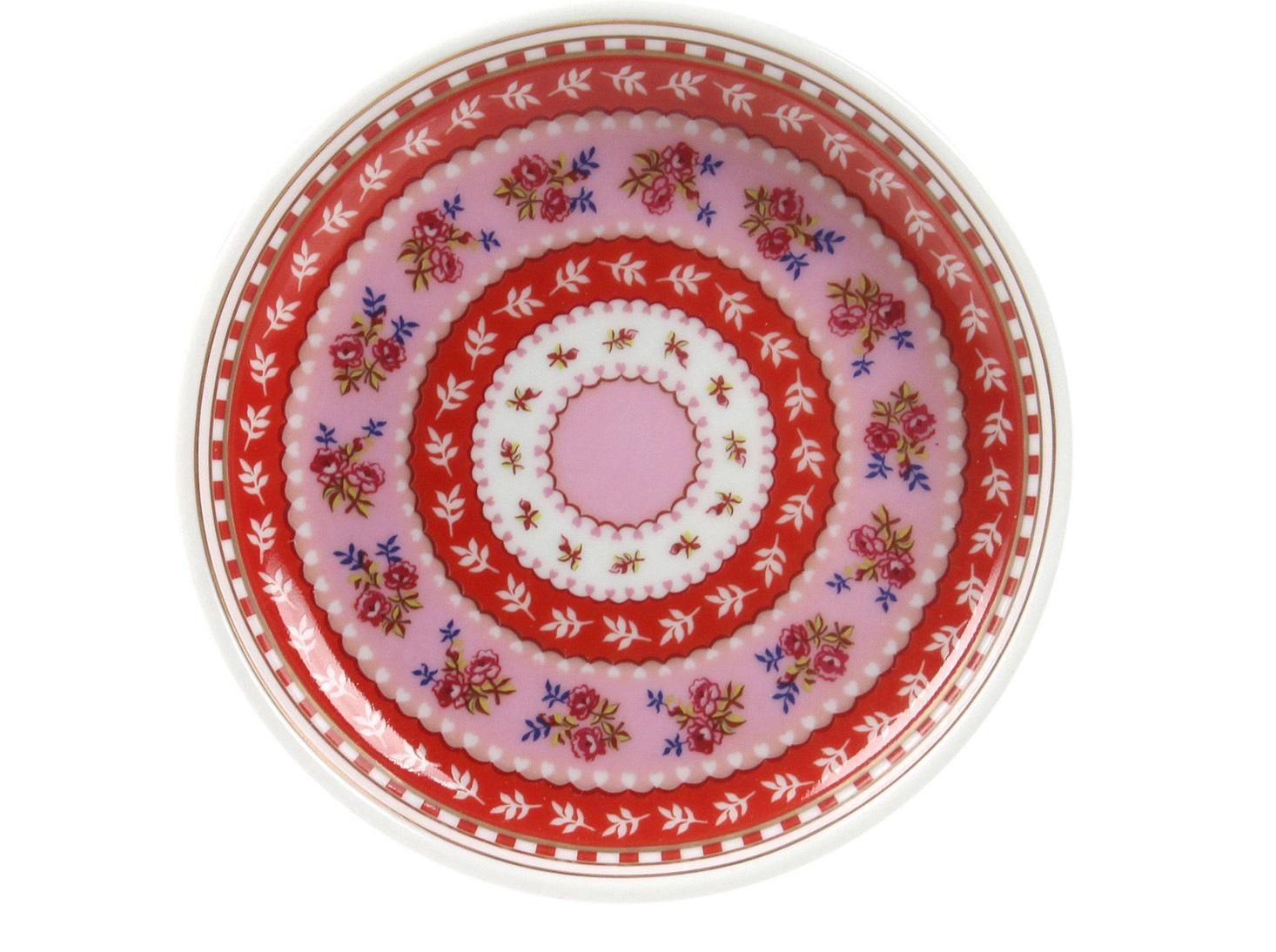 Набор маленьких блюдец Floral (2шт)Чайные пары, чашки и кружки<br>Коллекция посуды Floral появилась в 2008 г. и состоит из нескольких дизайнов, которые прекрасно сочетаются между собой и отлично дополняют друг друга. Особенность коллекции - в декорировании цветами, птицами и позолотой на всех предметах. Коллекция состоит из трёх цветовых групп - розовой, хаки и голубой, которые можно бесконечно комбинировать между собой. Коллекция также включает в себя кухонный текстиль и стекло.&amp;lt;div&amp;gt;&amp;lt;br&amp;gt;&amp;lt;/div&amp;gt;&amp;lt;div&amp;gt;&amp;lt;span style=&amp;quot;font-size: 14px;&amp;quot;&amp;gt;Не использовать в микроволновой печи. Не рекомендуется мыть в посудомоечной машине.&amp;amp;nbsp;&amp;lt;/span&amp;gt;&amp;lt;br&amp;gt;&amp;lt;/div&amp;gt;<br><br>Material: Фарфор<br>Высота см: 1