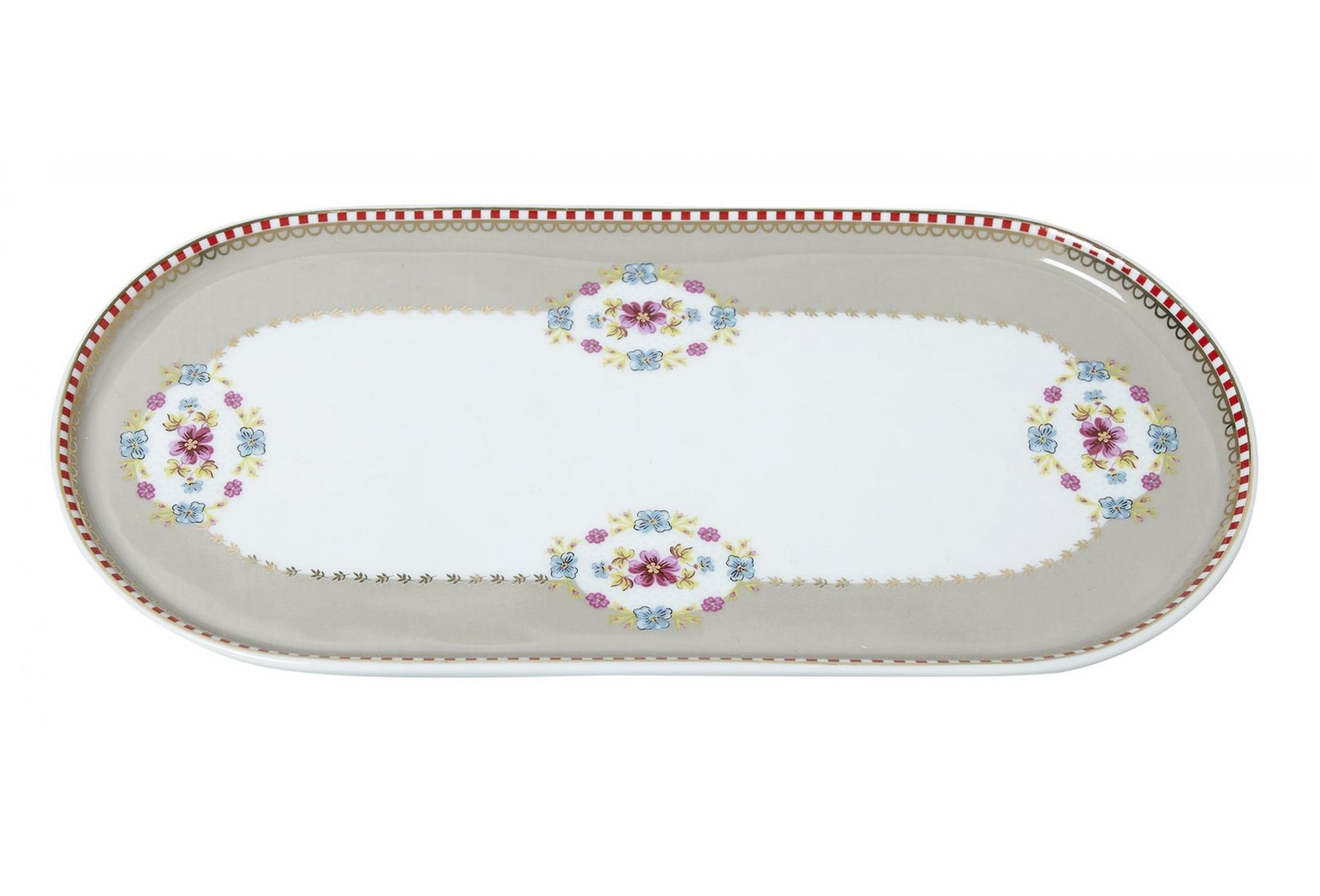 Набор прямоугольных тарелок Floral Khaki (2шт)Тарелки<br>Коллекция посуды Floral появилась в 2008 г. и состоит из нескольких дизайнов, которые прекрасно сочетаются между собой и отлично дополняют друг друга. Особенность коллекции - в декорировании цветами, птицами и позолотой на всех предметах. Коллекция состоит из трёх цветовых групп - розовой, хаки и голубой, которые можно бесконечно комбинировать между собой. Коллекция также включает в себя кухонный текстиль и стекло.&amp;lt;div&amp;gt;&amp;lt;br&amp;gt;&amp;lt;/div&amp;gt;&amp;lt;div&amp;gt;&amp;lt;span style=&amp;quot;font-size: 14px;&amp;quot;&amp;gt;Не использовать в микроволновой печи. Не рекомендуется мыть в посудомоечной машине.&amp;amp;nbsp;&amp;lt;/span&amp;gt;&amp;lt;br&amp;gt;&amp;lt;/div&amp;gt;<br><br>Material: Фарфор<br>Ширина см: 25<br>Высота см: 1<br>Глубина см: 11