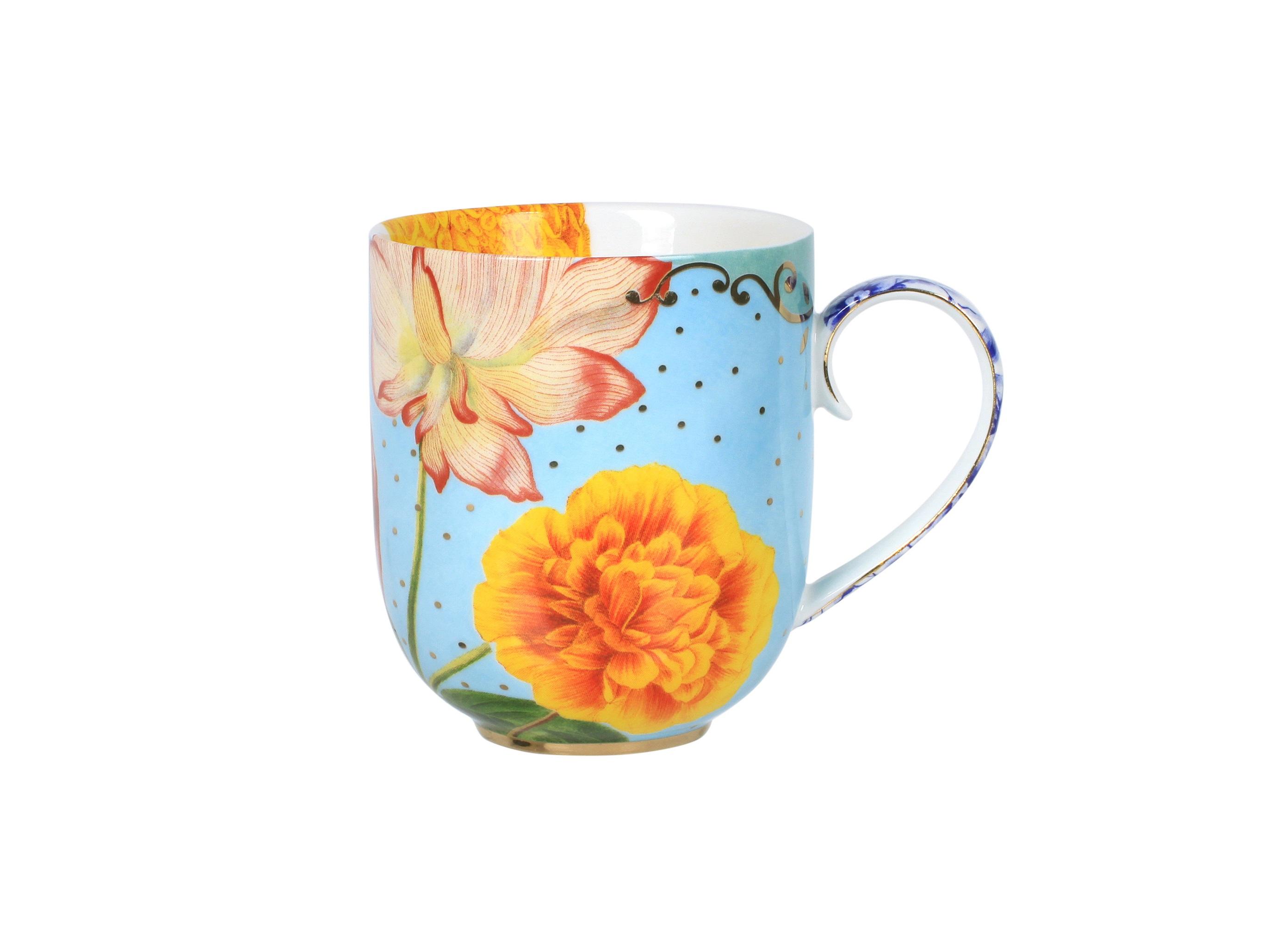 Набор кружек Royal Flowers (2шт)Чайные пары, чашки и кружки<br>Объём 325 мл. Не использовать в микроволновой печи. Не рекомендуется мыть в посудомоечной машине.<br><br>Material: Фарфор<br>Width см: None<br>Depth см: None<br>Height см: 9.5<br>Diameter см: 8