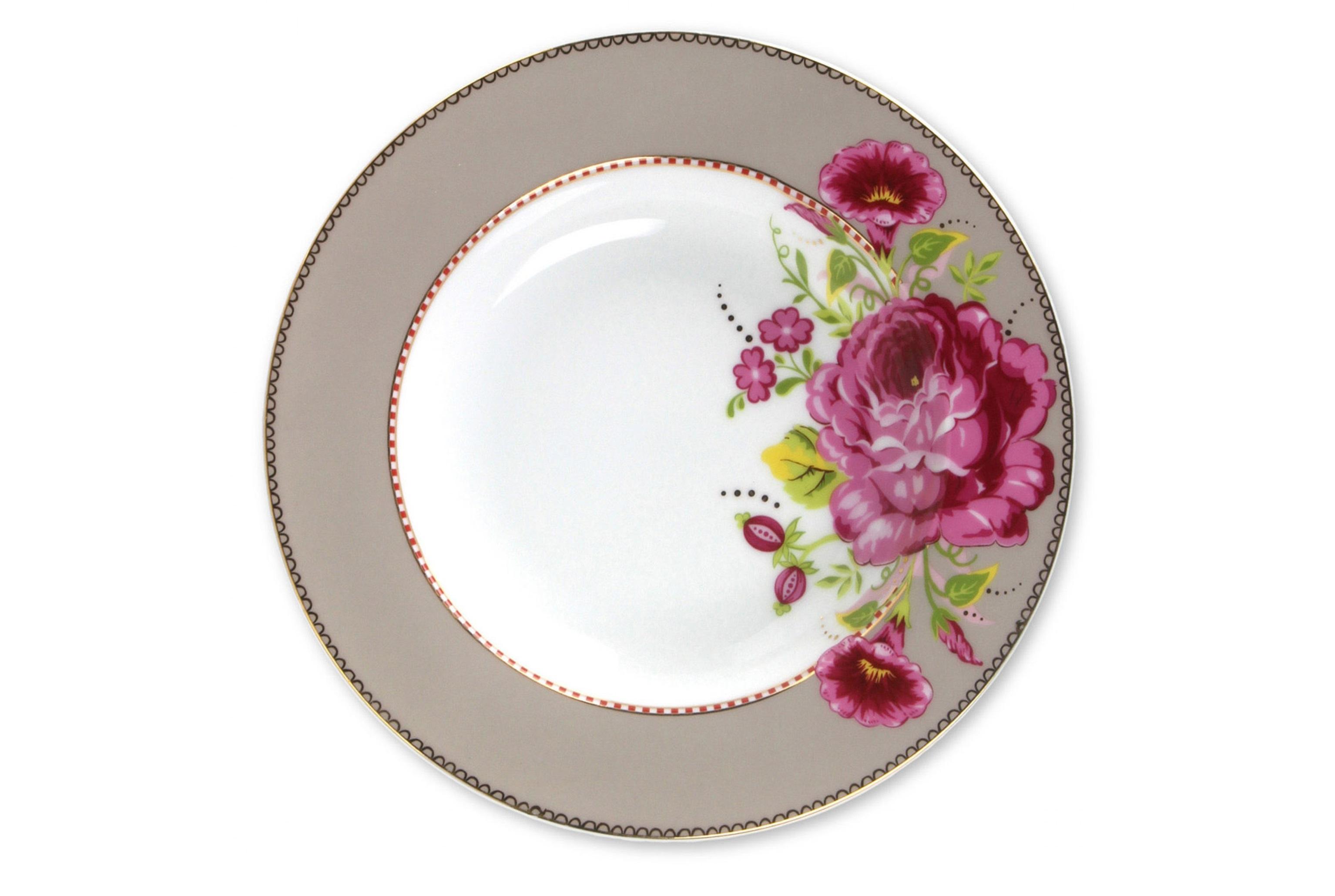 Набор глубоких тарелок Floral Khaki (2шт)Тарелки<br>Коллекция посуды Floral появилась в 2008 г. и состоит из нескольких дизайнов, которые прекрасно сочетаются между собой и отлично дополняют друг друга. Особенность коллекции - в декорировании цветами, птицами и позолотой на всех предметах. Коллекция состоит из трёх цветовых групп - розовой, хаки и голубой, которые можно бесконечно комбинировать между собой. Коллекция также включает в себя кухонный текстиль и стекло.&amp;lt;div&amp;gt;&amp;lt;br&amp;gt;&amp;lt;/div&amp;gt;&amp;lt;div&amp;gt;&amp;lt;span style=&amp;quot;font-size: 14px;&amp;quot;&amp;gt;Не использовать в микроволновой печи. Не рекомендуется мыть в посудомоечной машине.&amp;amp;nbsp;&amp;lt;/span&amp;gt;&amp;lt;br&amp;gt;&amp;lt;/div&amp;gt;<br><br>Material: Фарфор<br>Высота см: 3