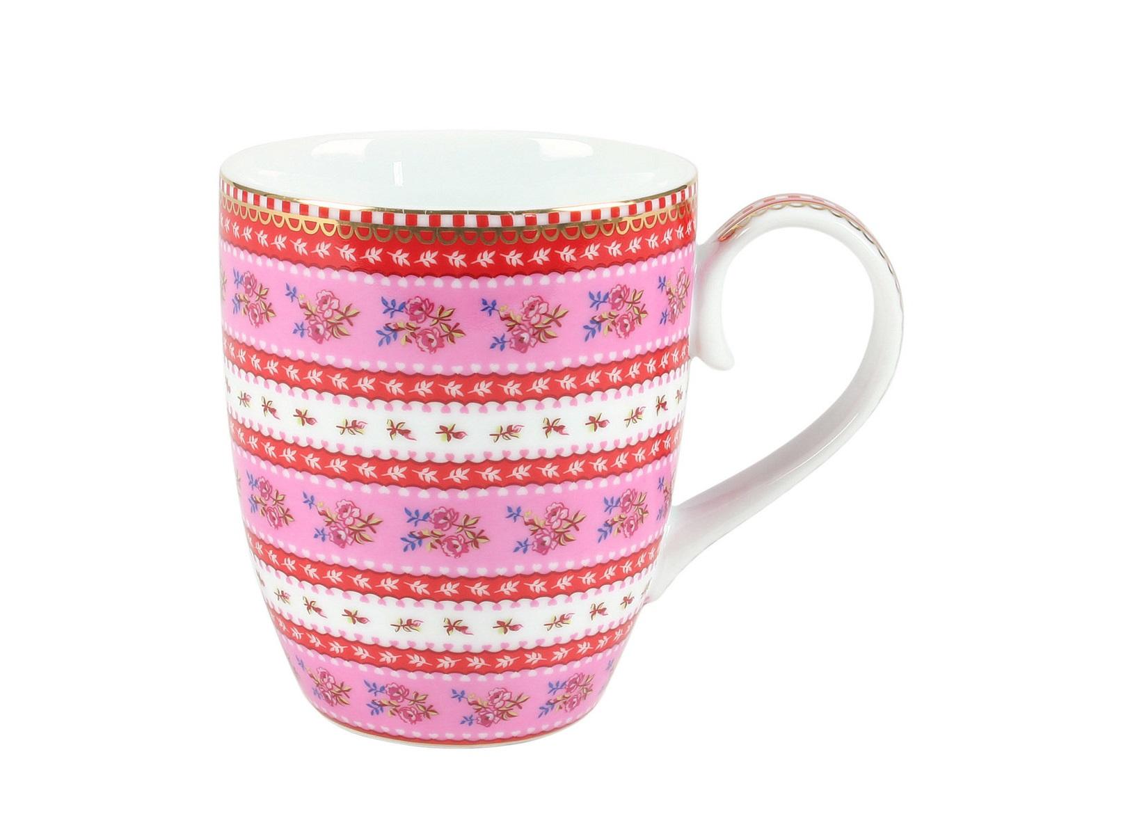 Набор больших кружек Floral Ribbon Rose (2шт)Чайные пары, чашки и кружки<br>Объём 350 мл. Не использовать в микроволновой печи. Не рекомендуется мыть в посудомоечной машине.<br><br>Material: Фарфор<br>Высота см: 10