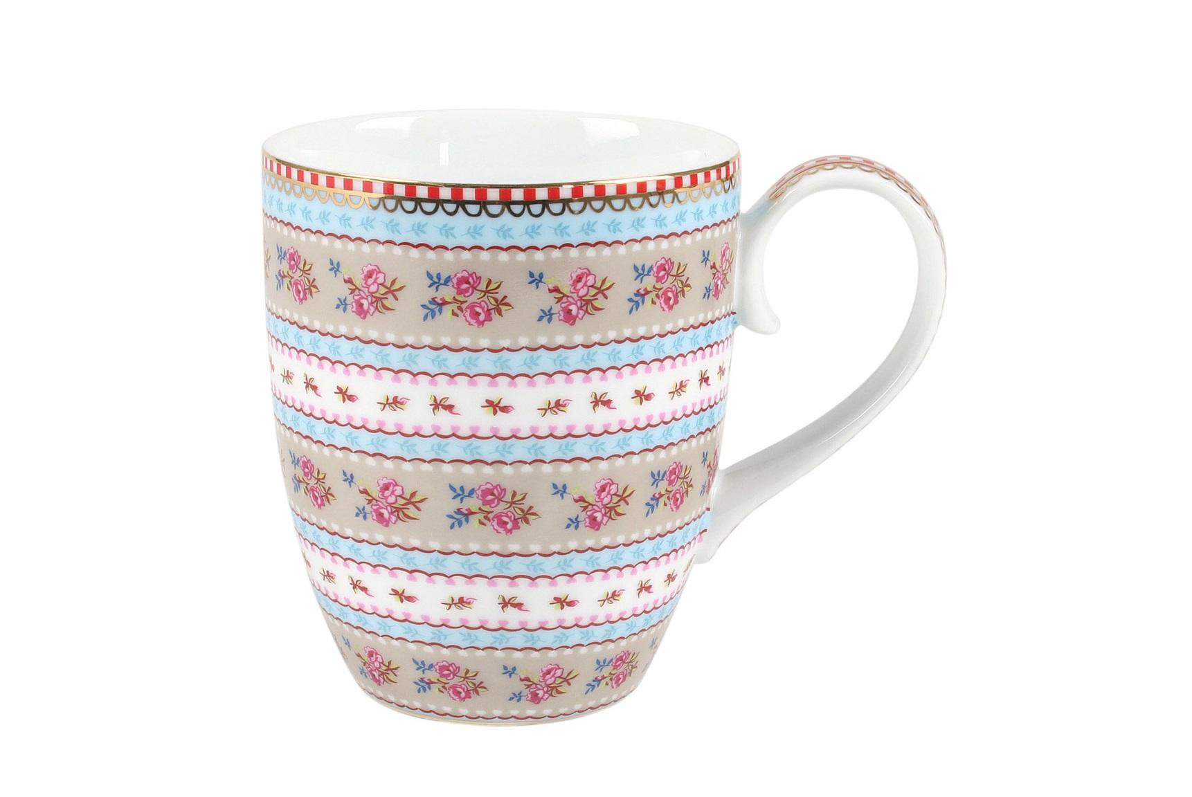 Набор больших кружек Floral Ribbon Rose (2шт)Чайные пары, чашки и кружки<br>Объём 350 мл. Не использовать в микроволновой печи. Не рекомендуется мыть в посудомоечной машине.<br><br>Material: Фарфор<br>Width см: None<br>Depth см: None<br>Height см: 10.5<br>Diameter см: 8,5