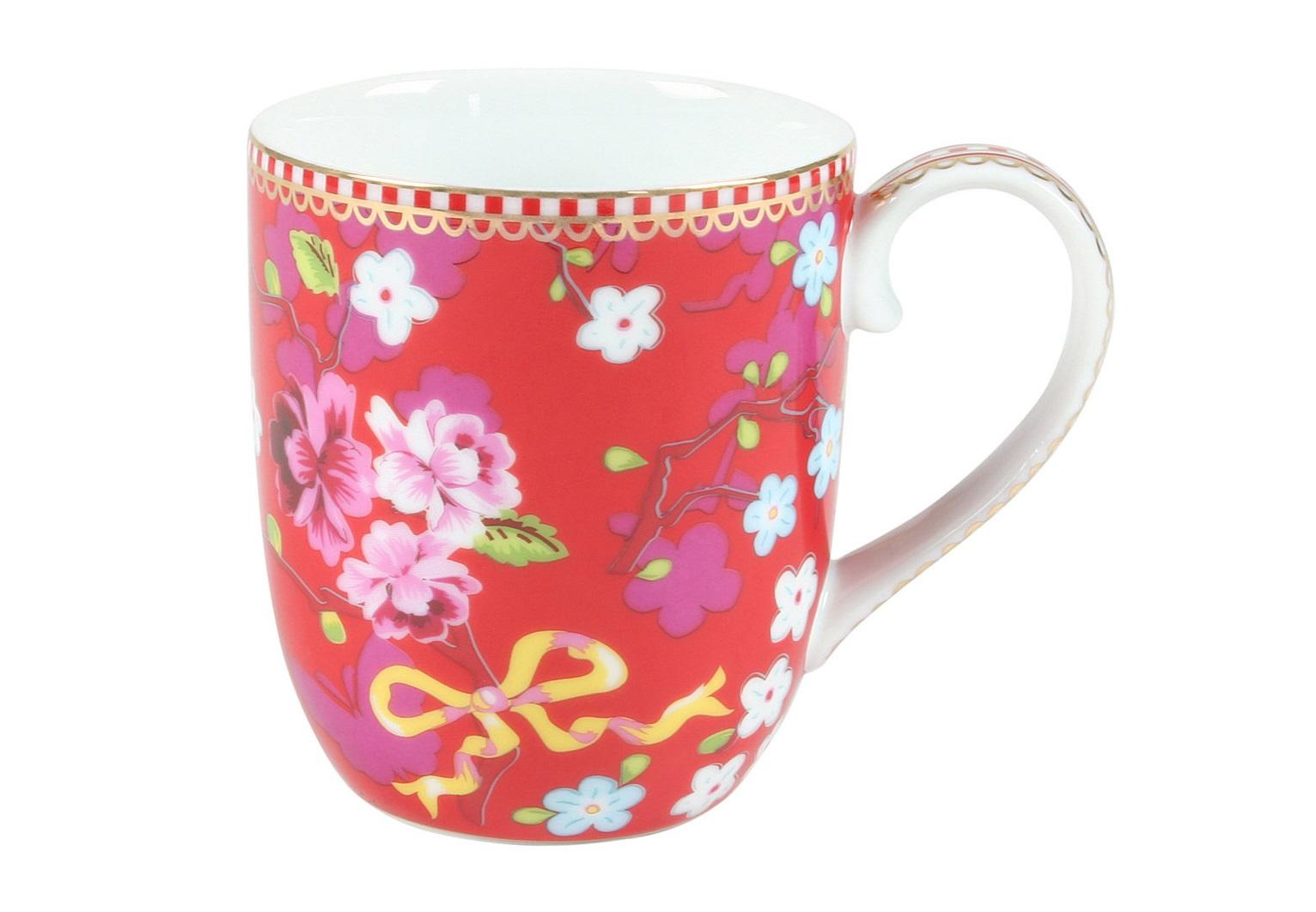 Набор маленьких кружек Floral Chinese Rose (2шт)Чайные пары, чашки и кружки<br>Объём 145 мл. Не использовать в микроволновой печи. Не рекомендуется мыть в посудомоечной машине.<br><br>Material: Фарфор<br>Высота см: 8