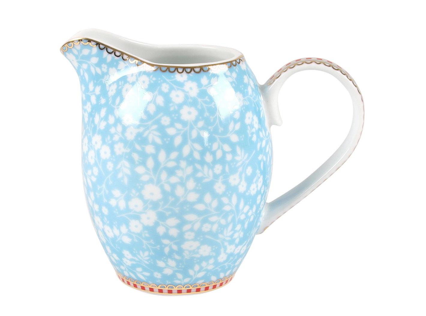 Молочник маленький Floral BlueКофейники и молочники<br>Объём 250 мл. Не использовать в микроволновой печи. Не рекомендуется мыть в посудомоечной машине.<br><br>Material: Фарфор<br>Ширина см: 11<br>Высота см: 9<br>Глубина см: 7