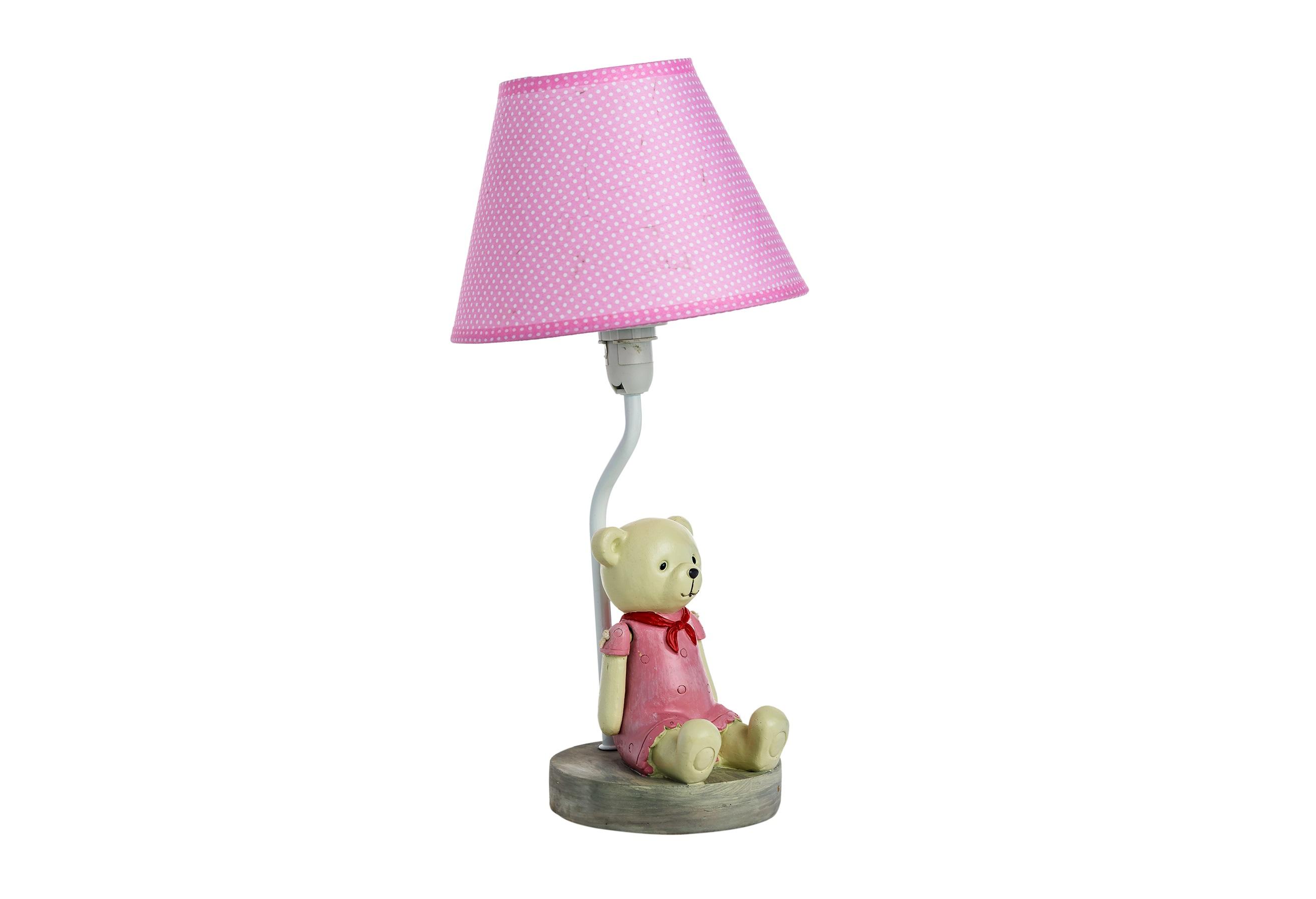 Детская настольная лампа МедведицаДекоративные лампы<br>&amp;lt;div&amp;gt;Тип цоколя: E27&amp;lt;/div&amp;gt;&amp;lt;div&amp;gt;Мощность: 40W&amp;lt;/div&amp;gt;&amp;lt;div&amp;gt;Кол-во ламп: 1 (нет в комплекте)&amp;lt;/div&amp;gt;<br><br>Material: Полирезин<br>Length см: None<br>Width см: None<br>Height см: 35<br>Diameter см: 18