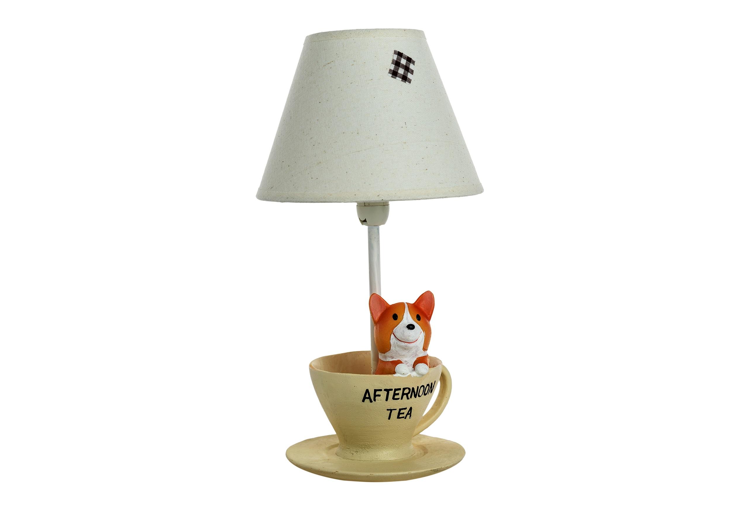 Детская настольная лампа Собачка за чаемДекоративные лампы<br>&amp;lt;div&amp;gt;Тип цоколя: E27&amp;lt;/div&amp;gt;&amp;lt;div&amp;gt;Мощность: 40W&amp;lt;/div&amp;gt;&amp;lt;div&amp;gt;Кол-во ламп: 1 (нет в комплекте)&amp;lt;/div&amp;gt;<br><br>Material: Полирезин<br>Высота см: 16