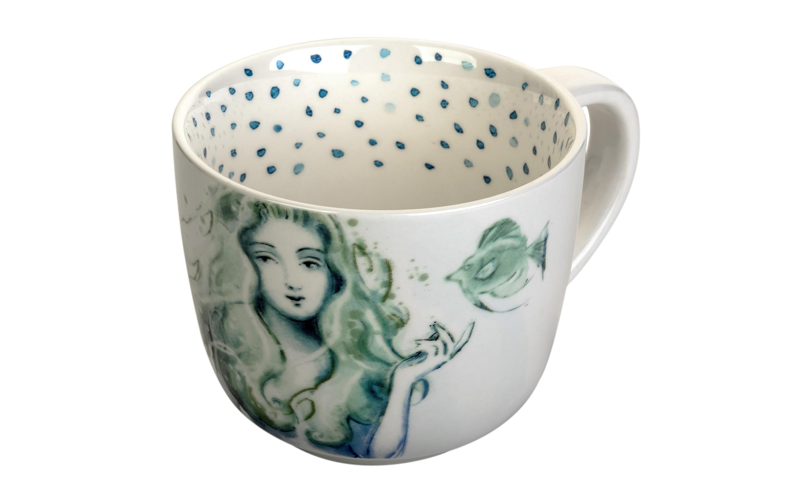 Чашка РусалкаЧайные пары, чашки и кружки<br><br><br>Material: Керамика<br>Length см: None<br>Width см: None<br>Height см: 9<br>Diameter см: 11
