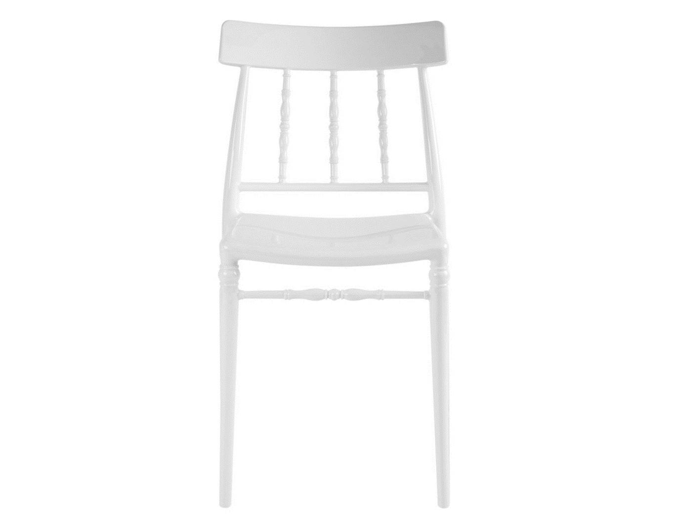 Стул White lacquerОбеденные стулья<br><br><br>Material: Пластик<br>Ширина см: 46<br>Высота см: 84<br>Глубина см: 53