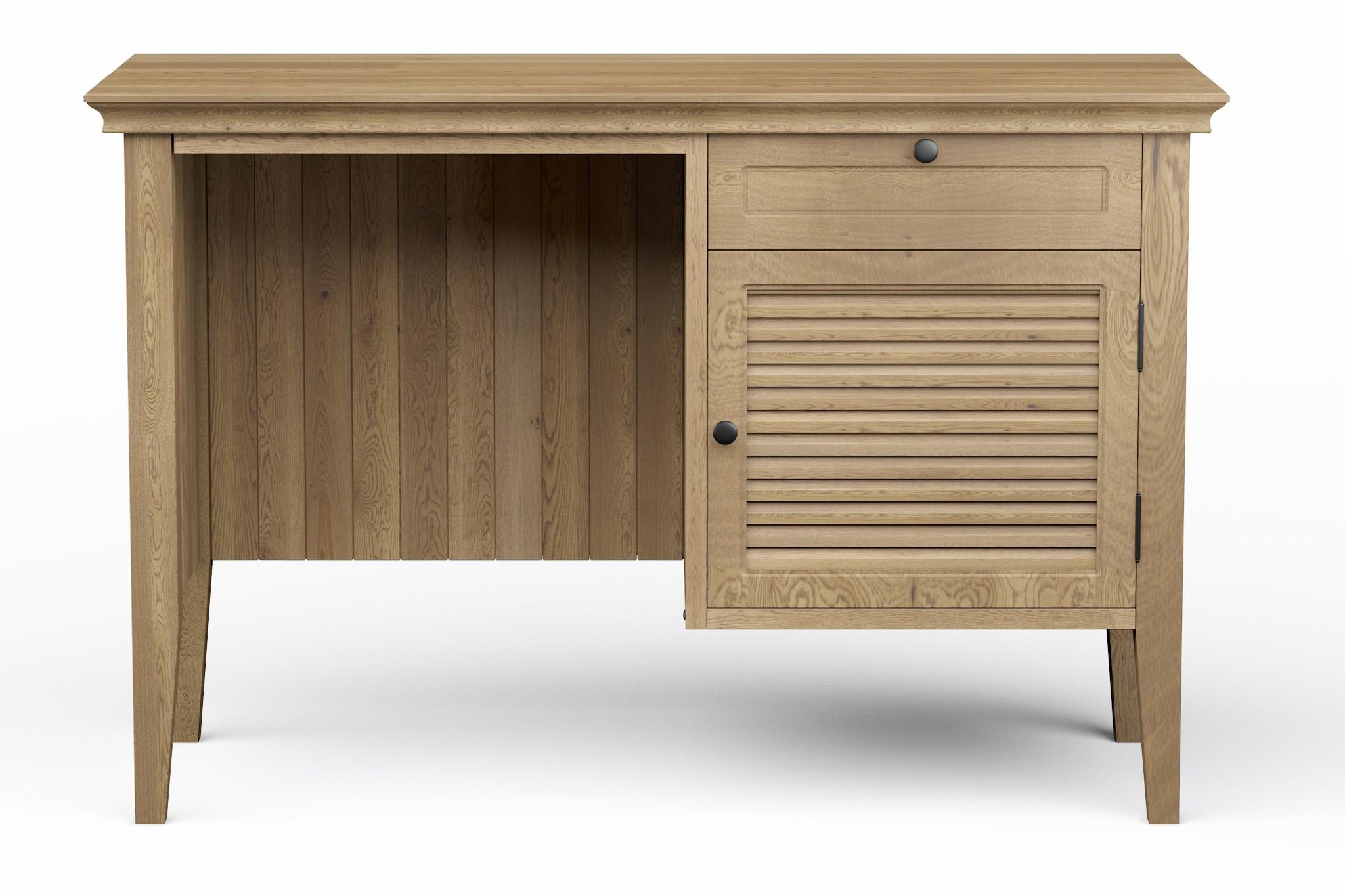 Письменный стол RanchПисьменные столы<br>Письменный стол &amp;quot;Ranch Midi Oak&amp;quot; полностью выполнен из массива натурального дуба. Мы специально немного уменьшили размеры стола, чтобы он мог найти себе достойное место в том числе в габаритах небольших квартир. Изменение цвета масла и размера возможно по пожеланиям заказчика. Сборка не требуется.<br><br>Material: Дуб<br>Ширина см: 105<br>Высота см: 70<br>Глубина см: 45