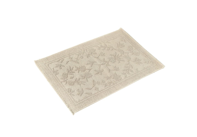 Коврик КарменПрямоугольные ковры<br>Хлопковый коврик увеличенного размера (60*90см) серого оттенка для ванной или спальни. Рельефная выработка обратной стороны изделия снижает скольжение.<br><br>Material: Хлопок<br>Ширина см: 90<br>Высота см: 60