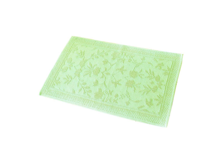 Коврик КарменПрямоугольные ковры<br>Хлопковый коврик увеличенного размера фисташкового цвета для ванной или спальни. Рельефная выработка обратной стороны изделия снижает скольжение.<br><br>Material: Хлопок<br>Ширина см: 90<br>Высота см: 60