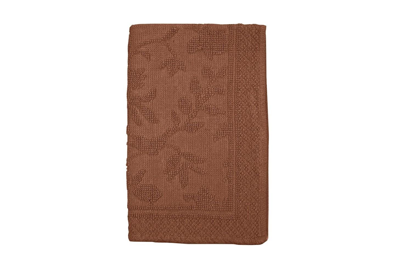 Коврик КарменПрямоугольные ковры<br>Хлопковый коврик увеличенного размера (60*90см) шоколадного цвета для ванной или спальни. Рельефная выработка обратной стороны изделия снижает скольжение.<br><br>Material: Хлопок