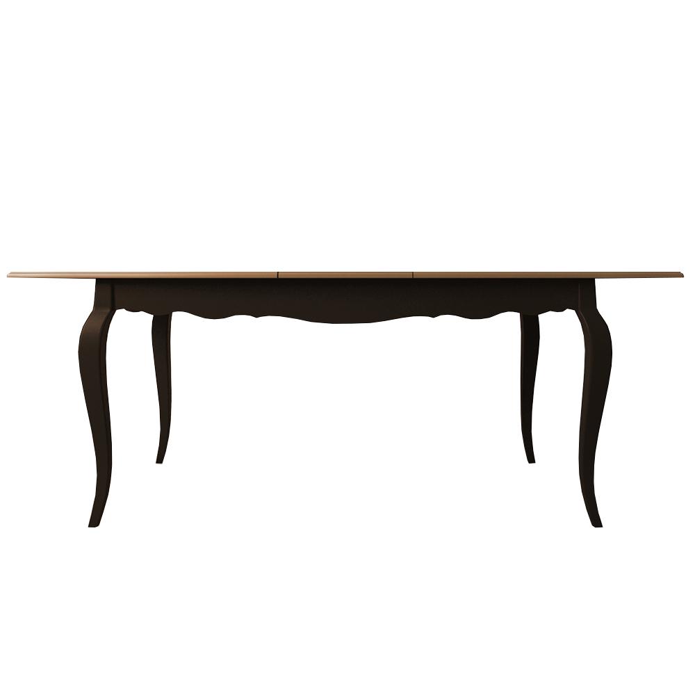 Раскладывающийся обеденный стол Leontina BlackОбеденные столы<br>Материал: Массив березы,Массив ясеня.<br><br>Material: Дерево<br>Ширина см: 160<br>Высота см: 77<br>Глубина см: 90