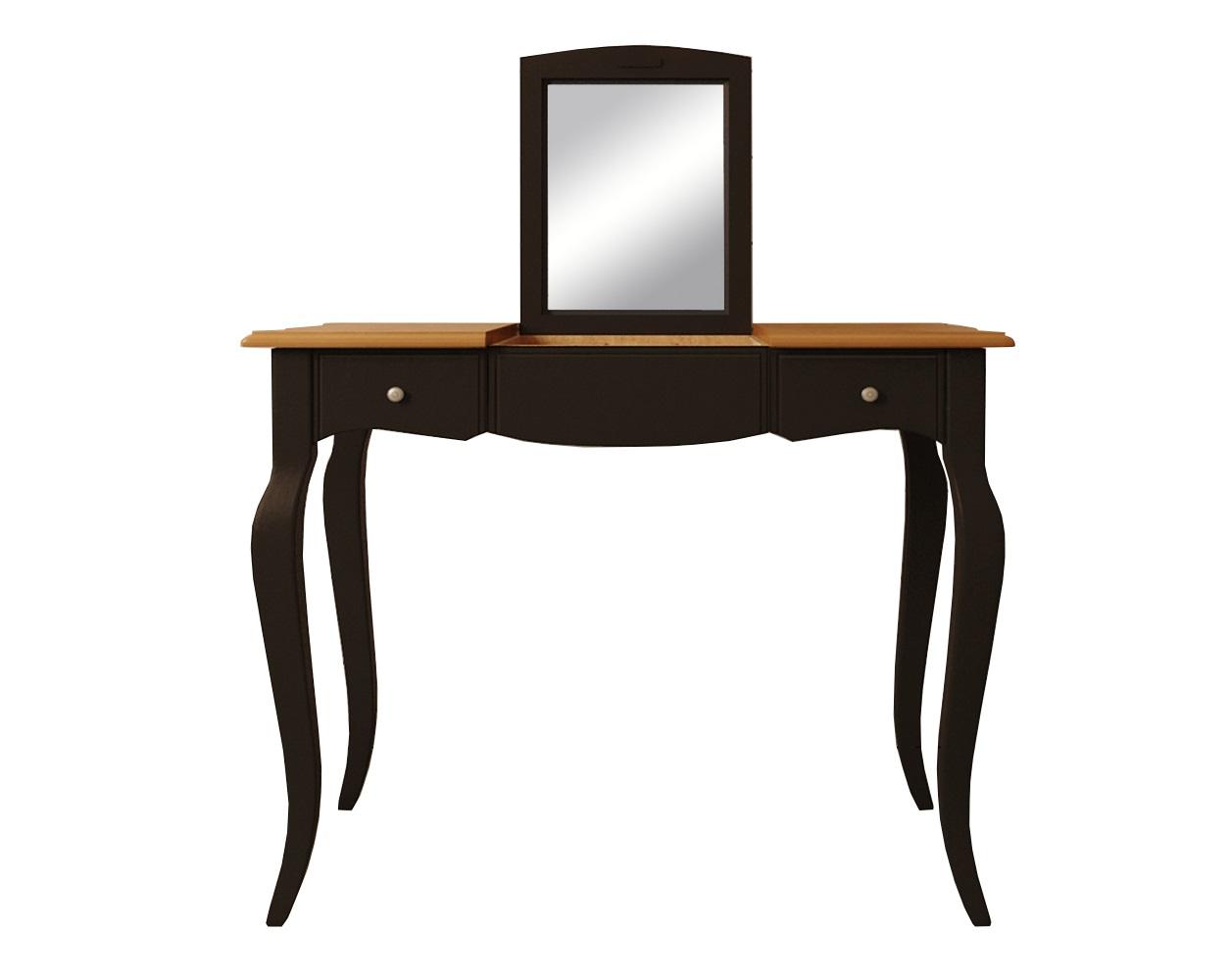 Туалетный стол Leontina BlackТуалетные столики<br>Материал: массив березы, массив ясеня.<br><br>Material: Береза<br>Ширина см: 100<br>Высота см: 77<br>Глубина см: 49