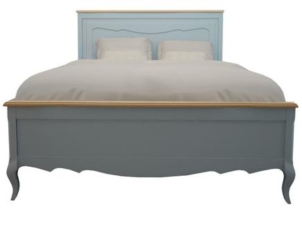 Двуспальная кровать leontina (etg-home) голубой 180.0x120.0x200.0 см.