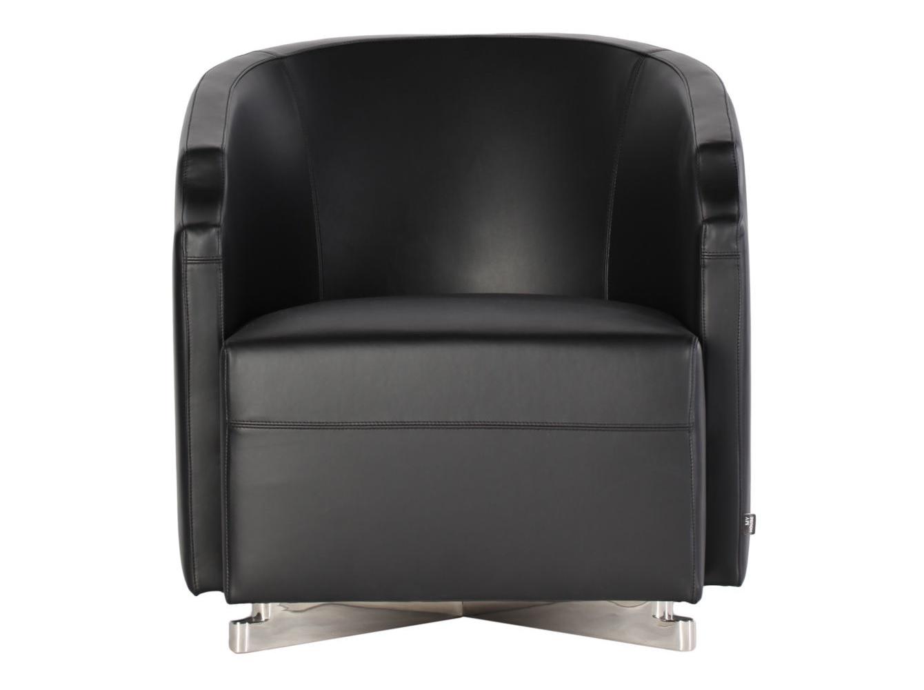 Кресло Arma blackКожаные кресла<br><br><br>Material: Кожа<br>Ширина см: 67<br>Высота см: 72<br>Глубина см: 80