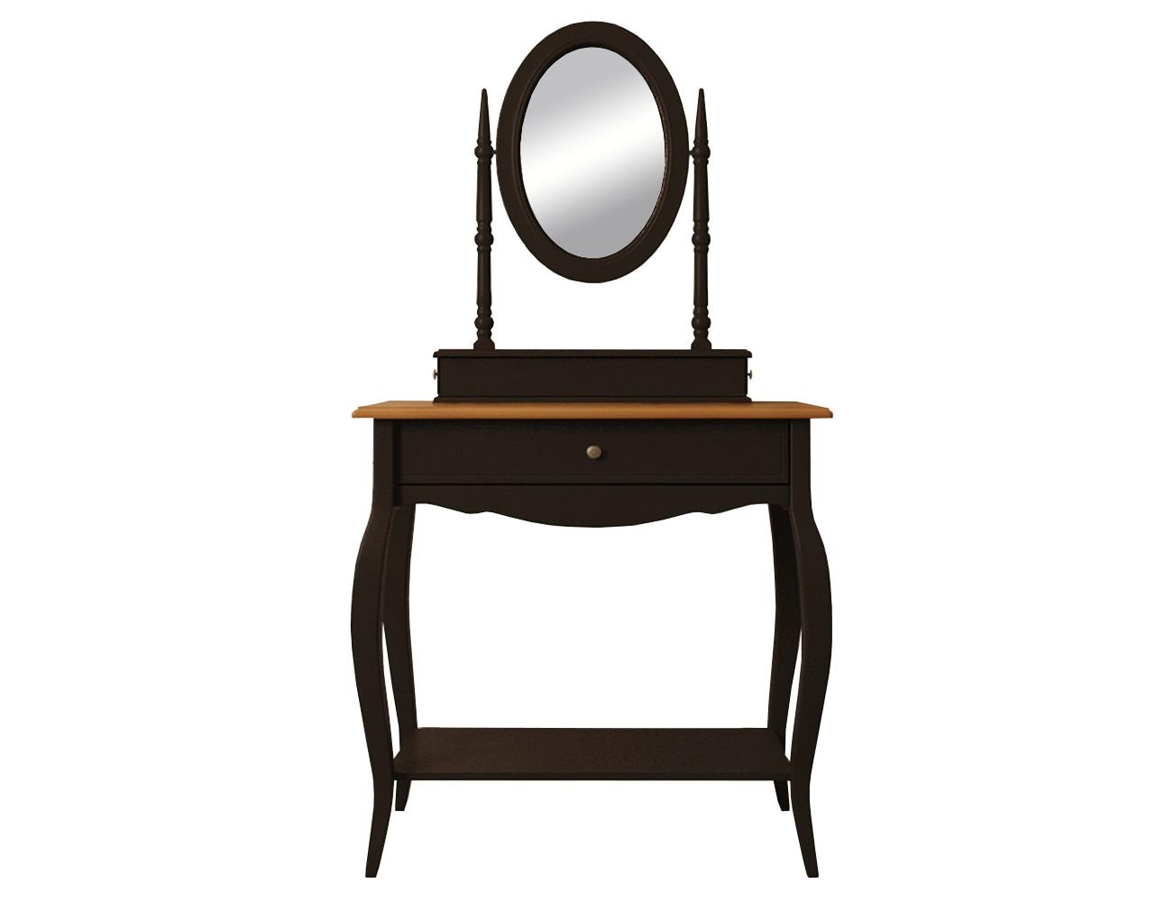 Туалетный столик Leontina BlackТуалетные столики<br>Материал: массив березы, массив ясеня.<br><br>Material: Береза<br>Ширина см: 70<br>Высота см: 142<br>Глубина см: 40