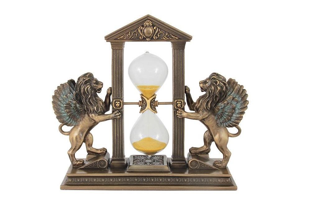 Часы песочные ЛьвыНастольные часы<br><br><br>Material: Полирезин