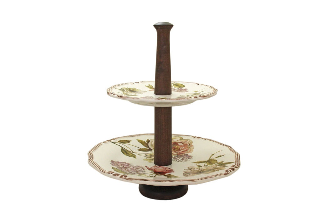 Двухярусная ваза для фруктов Сады ФлоренцииПодставки и доски<br><br><br>Material: Керамика