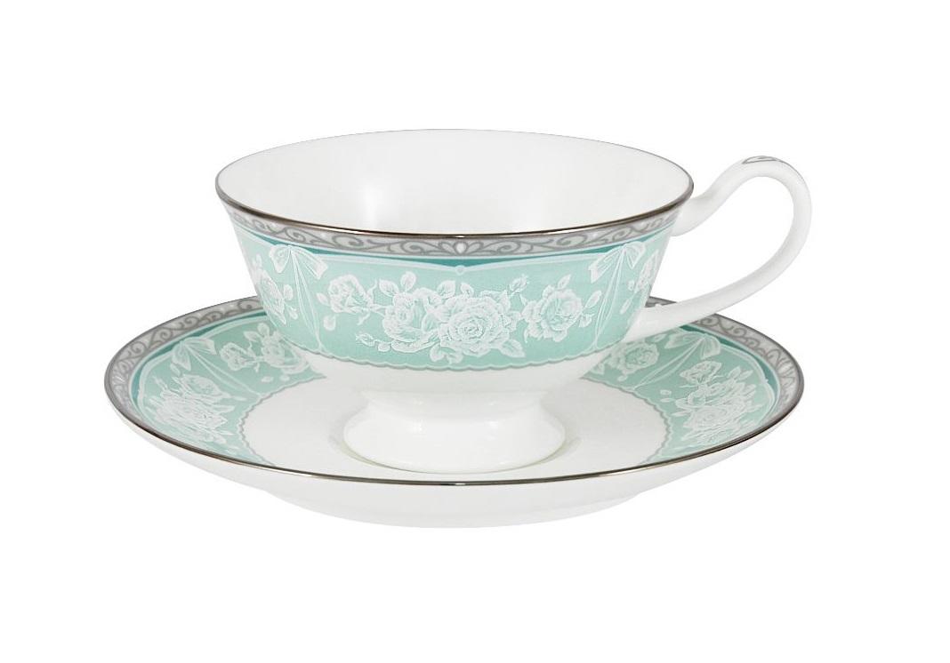 Чашка с блюдцем ПрикосновениеЧайные пары, чашки и кружки<br><br><br>Material: Фарфор