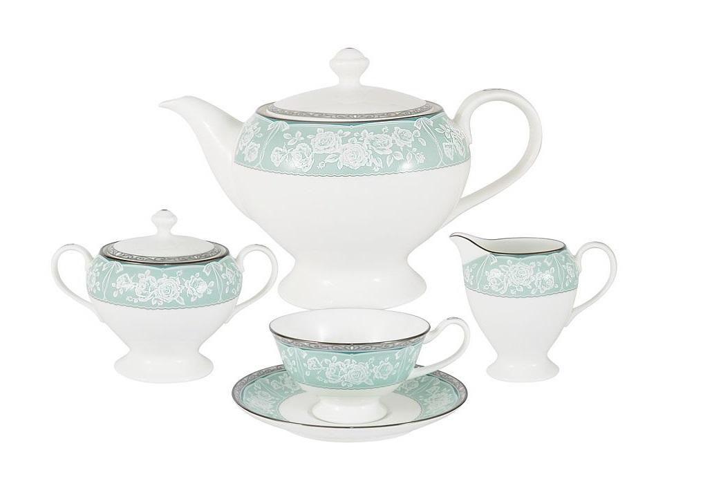 Чайный сервиз из 17 предметов на 6 персон ПрикосновениеЧайные сервизы<br><br><br>Material: Фарфор