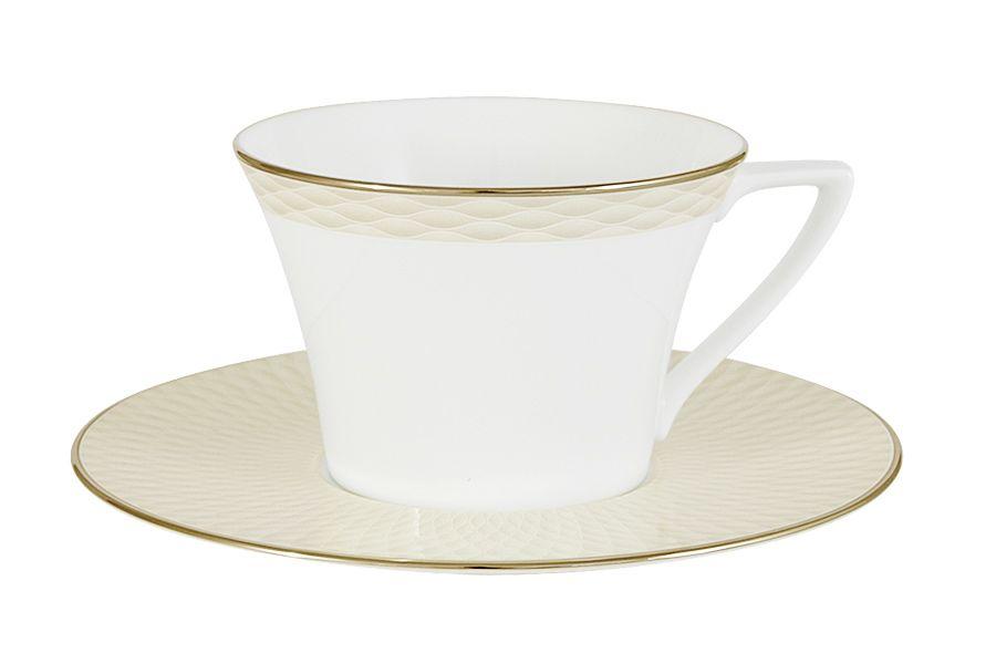 Чашка с блюдцем Бриз ГолдЧайные пары, чашки и кружки<br><br><br>Material: Фарфор