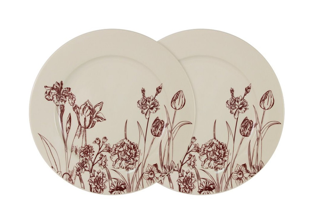 Набор обеденных тарелок Эдем (2шт)Тарелки<br><br><br>Material: Керамика