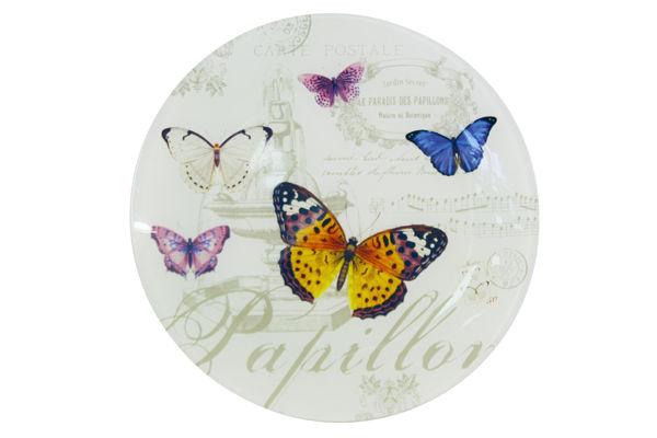 Блюдо стеклянное БабочкиДекоративные блюда<br><br><br>Material: Стекло