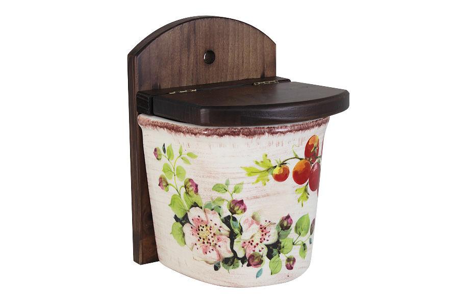 Банка настенная для сыпучих продуктов Овощное ассортиЕмкости для хранения<br><br><br>Material: Керамика