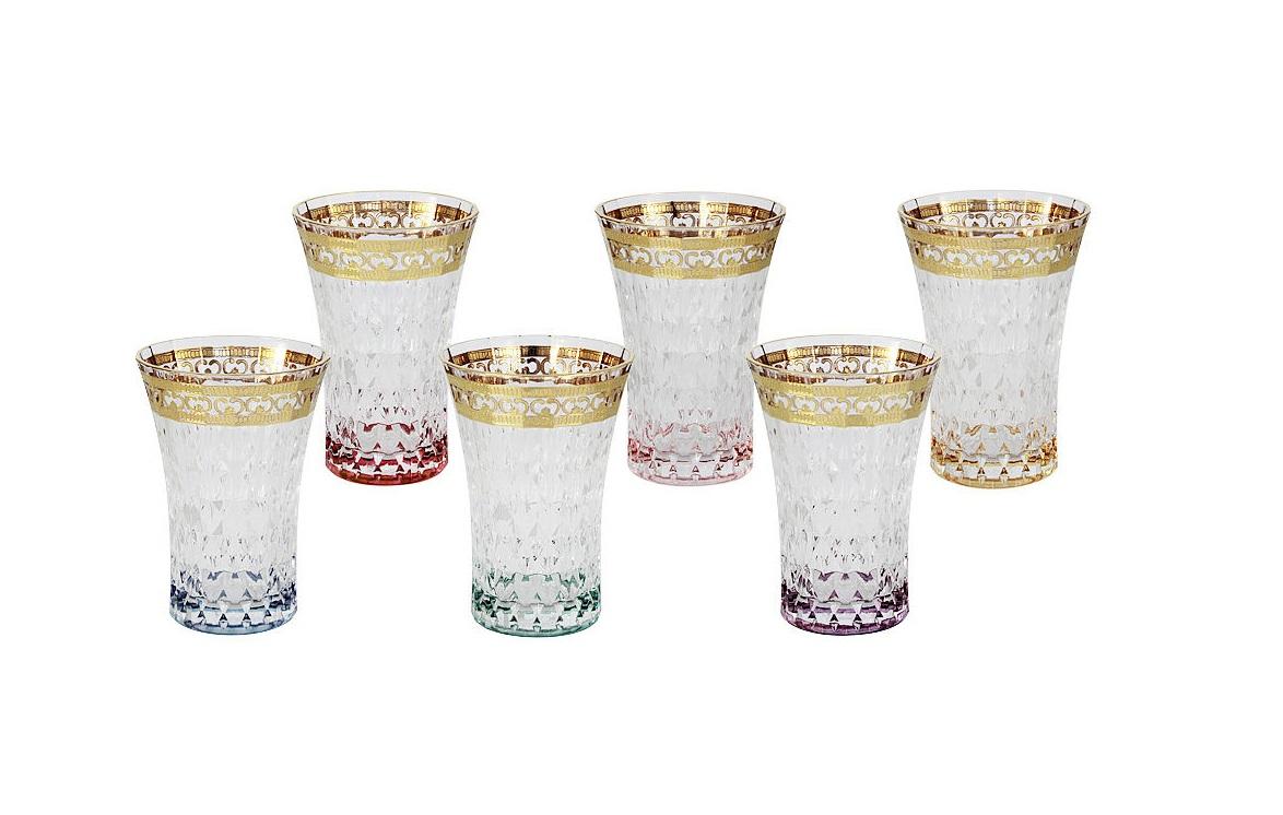 Набор: 6 стаканов для воды Цветная ФлоренцияСтаканы<br><br><br>Material: Стекло