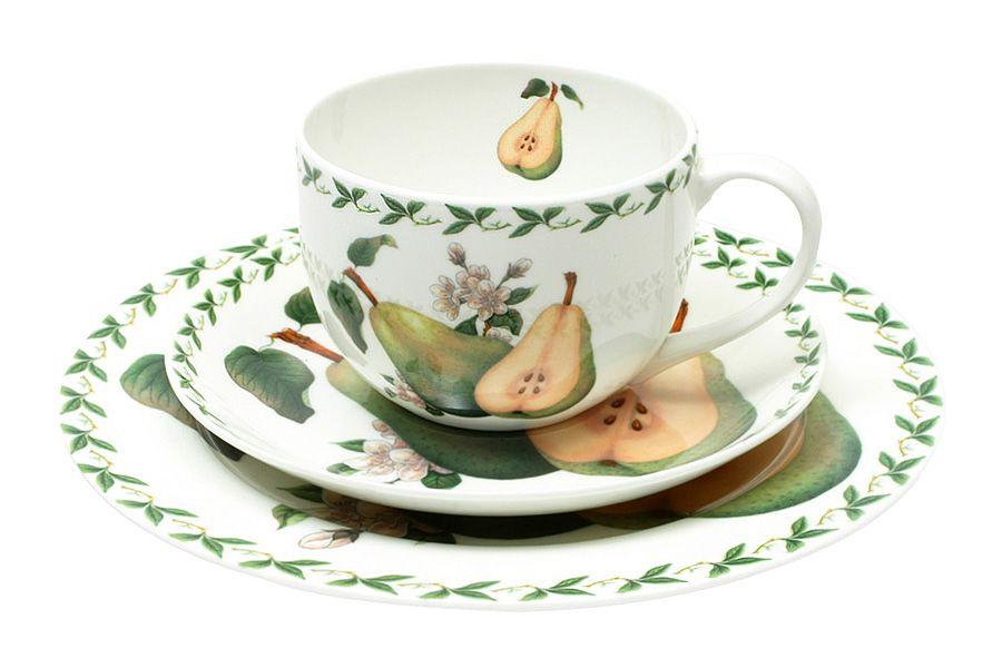 Набор: чашка, блюдце, тарелка ГрушаЧайные пары, чашки и кружки<br>В подарочной упаковке.<br><br>Material: Фарфор