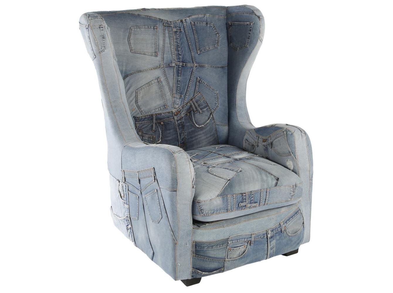Кресло WingКресла с высокой спинкой<br><br><br>Material: Джинса<br>Ширина см: 97<br>Высота см: 117<br>Глубина см: 95