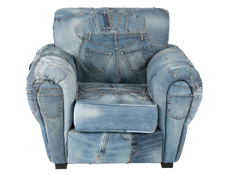 Кресло San FranciscoИнтерьерные кресла<br><br><br>Material: Джинса<br>Ширина см: 114<br>Высота см: 94<br>Глубина см: 95