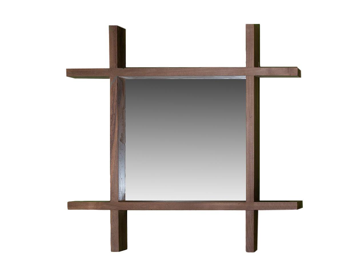 Зеркало KalaloНастенные зеркала<br>Оригинальное зеркало для ванной комнаты, рама выполненна из массива тика, горизонтальные элементы могут быть использованы, как небольшие полочки.<br><br>Material: Тик<br>Ширина см: 80<br>Высота см: 80<br>Глубина см: 8