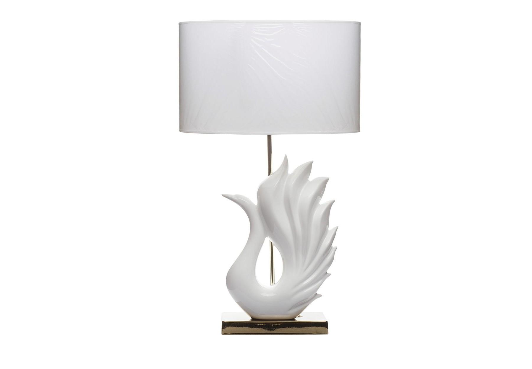 Лампа настольная ЛебедьДекоративные лампы<br><br><br>Material: Пластик<br>Width см: 45<br>Depth см: 30<br>Height см: 76