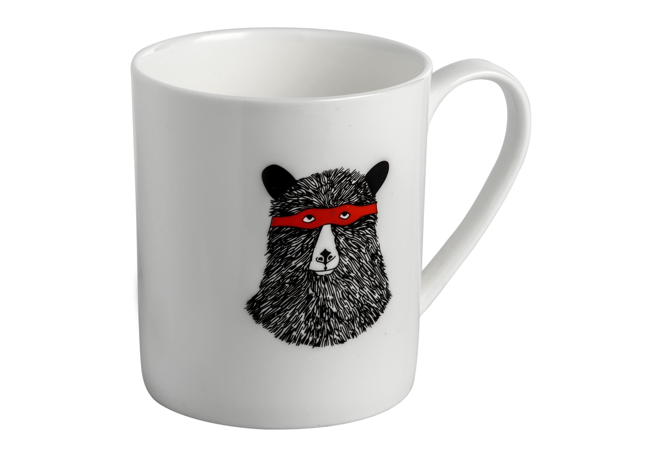 Кружка Мишка в маскеЧайные пары, чашки и кружки<br><br><br>Material: Керамика<br>Высота см: 8
