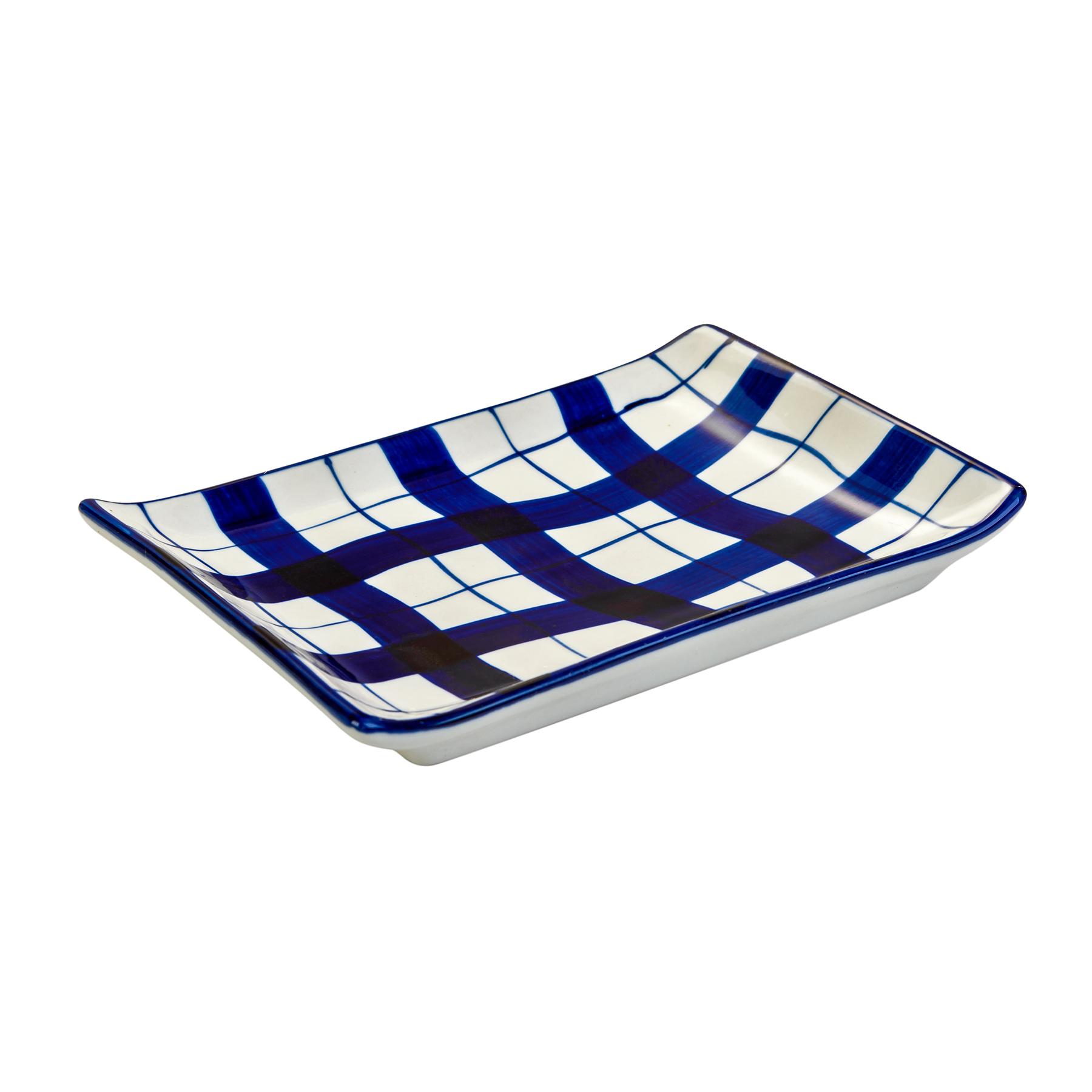 Мини-блюдоДекоративные блюда<br><br><br>Material: Керамика<br>Ширина см: 18<br>Высота см: 2<br>Глубина см: 12