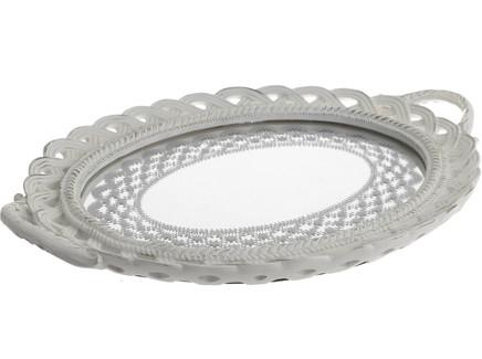 Поднос зеркальный ivanna (to4rooms) серый 36.0x3.0x26.0 см.