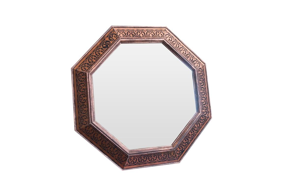 Зеркало MarcusНастенные зеркала<br>Эксклюзивное зеркало ручной работы выполнено в форме роскошного бриллианта. Над его созданием кропотливо трудились руки наших искусных мастеров, которые старательно отбирали лучшие орнаменты для рам в старинных книгах по архитектуре. Зеркало идеально дополнит пространство прихожей, а также станет центральным элементом в оформлении гостиной или спальни хозяев дома.<br><br>Material: Дерево<br>Ширина см: 60<br>Высота см: 60<br>Глубина см: 4