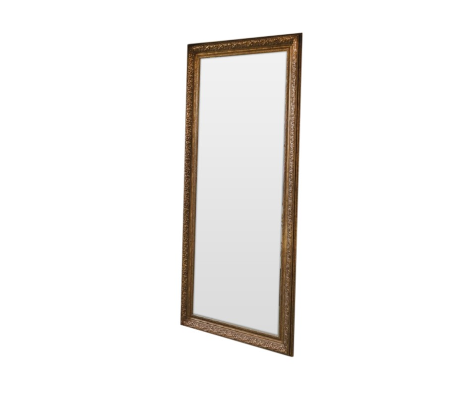 ЗеркалоНапольные зеркала<br>Зеркало в полный рост - это важный атрибут для каждой представительницы прекрасного пола. Вы согласны? Чтобы получился завершенный образ нужно обязательно увидеть себя полностью, провести взглядом с ног до головы. Все сочетается по стилю, цвету, все нравится и вуаля...встречай мир меня прелестную! Классический цвет этого напольного зеркала заведомо дружелюбен любому Вашему интерьерному решению.<br><br>Material: Полиуретан<br>Ширина см: 90.0<br>Высота см: 200.0<br>Глубина см: 8.0