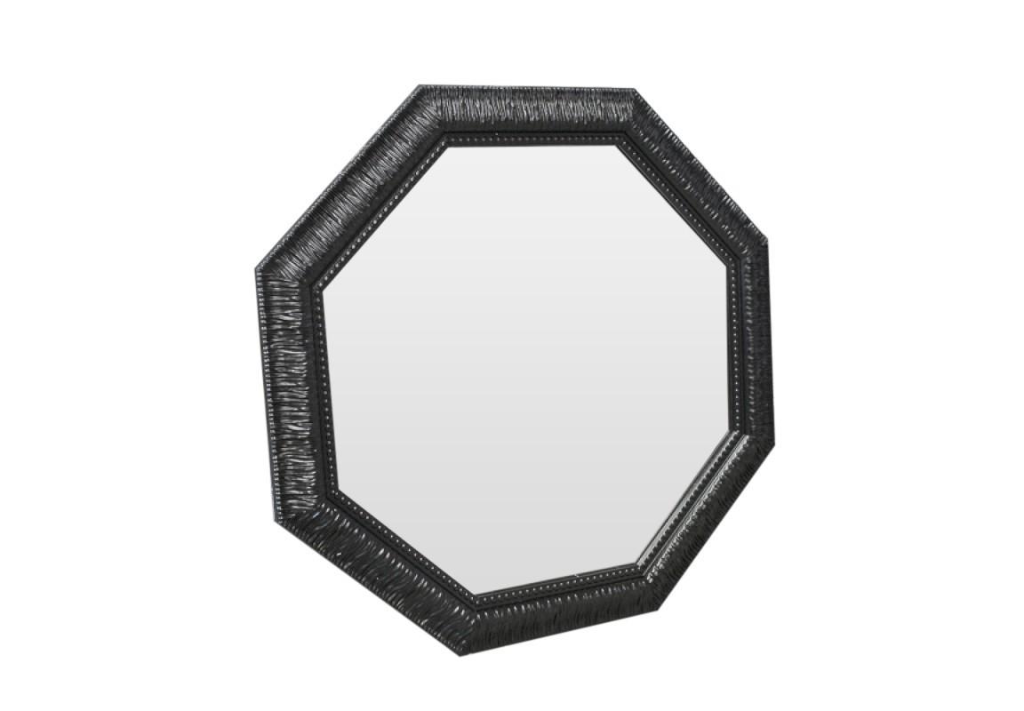 Зеркало Black SparkleНастенные зеркала<br>Статное и благородное зеркало черного цвета подчеркнет любой интерьер и станет в нем изюминкой.<br><br>Material: Полиуретан<br>Ширина см: 72<br>Высота см: 72<br>Глубина см: 4