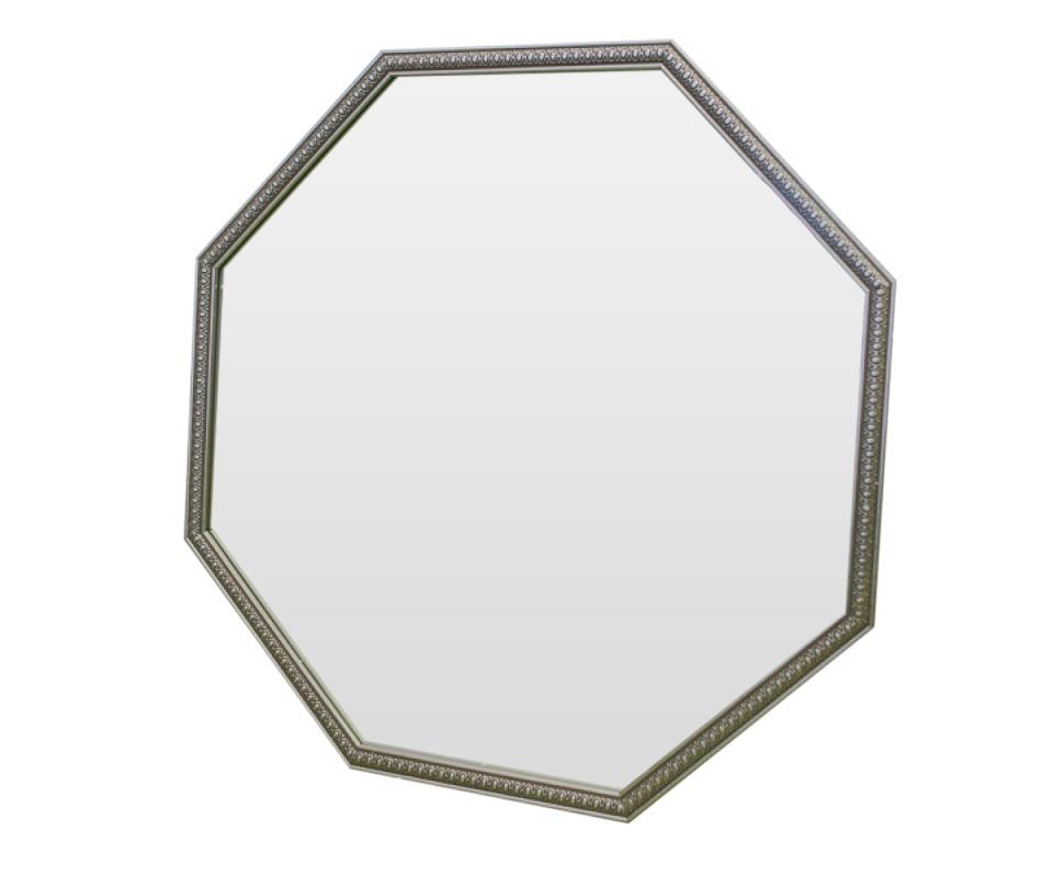 Зеркало SpirituelНастенные зеркала<br>Утонченное зеркало с серебристой окантовкой и приятным узором неуловимым образом окутает ваше пространство негой и изыском.<br><br>Material: Полиуретан<br>Ширина см: 67<br>Высота см: 67<br>Глубина см: 2