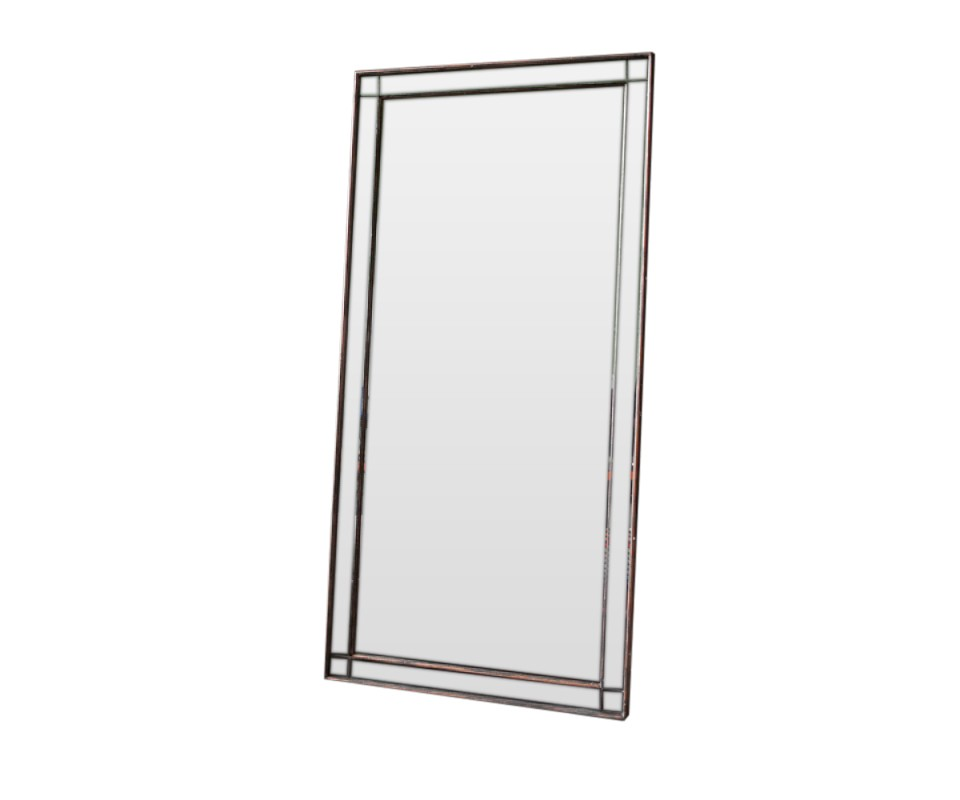 Зеркало MasterpieceНастенные зеркала<br>Эффектное зеркало выполнено в стиле благородного лофта и декорировано зеркальной рамой на состаренном дереве с оттенком бронзы. Такое изделие непременно будет радовать Ваш взгляд, и украшать Вашу обитель.<br><br>Material: Дерево<br>Ширина см: 79.0<br>Высота см: 160.0<br>Глубина см: 4.0