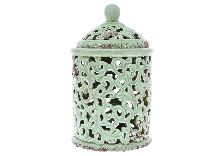 Ваза с крышкой JessycaЕмкости для хранения<br><br><br>Material: Керамика<br>Высота см: 28