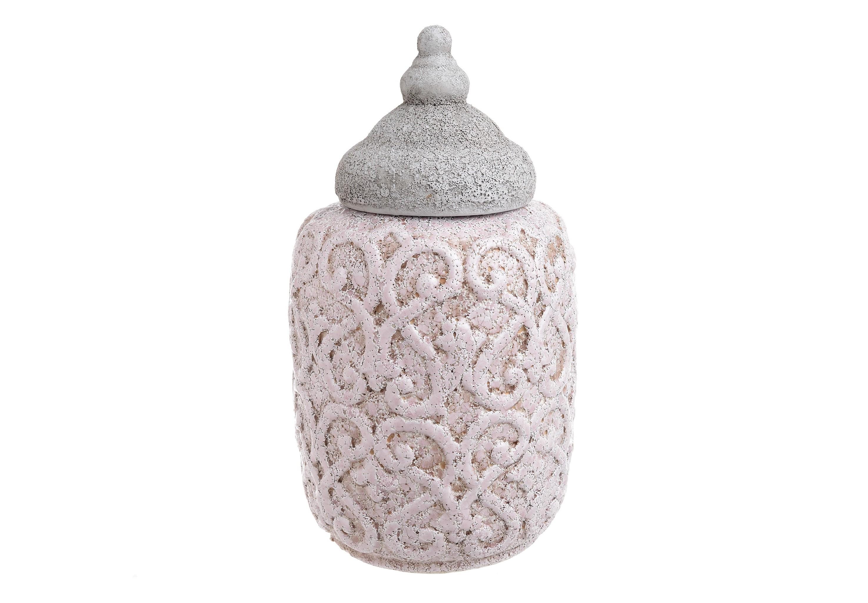 Ваза с крышкой ChaneЕмкости для хранения<br><br><br>Material: Керамика<br>Ширина см: 18<br>Высота см: 32<br>Глубина см: 18