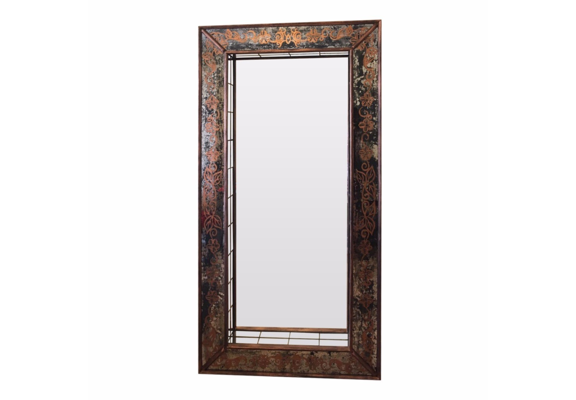 Напольное зеркало ТоржествоНапольные зеркала<br>Другого слова кроме как &amp;quot;шикарное&amp;quot; для этого напольного зеркала нет! Массив дерева, состаренные вручную зеркала, искусный орнамент, бронзовые переливы - все это делает зеркало незабываемым!&amp;amp;nbsp;&amp;lt;div&amp;gt;&amp;lt;br&amp;gt;&amp;lt;/div&amp;gt;&amp;lt;div&amp;gt;Само зеркальное полотно посажено вглубь на 11 см и выложено по контуру зеркальными прямоугольными кирпичиками. Этот прием позволяет придать зеркалу объем и получить дополнительные боковые отражения.&amp;amp;nbsp;&amp;lt;/div&amp;gt;&amp;lt;div&amp;gt;Зеркало изготовлено специалистами зеркальной мастерской на территории России, использован ручной труд. &amp;lt;/div&amp;gt;<br><br>Material: Дерево<br>Ширина см: 100.0<br>Высота см: 200.0<br>Глубина см: 4.0