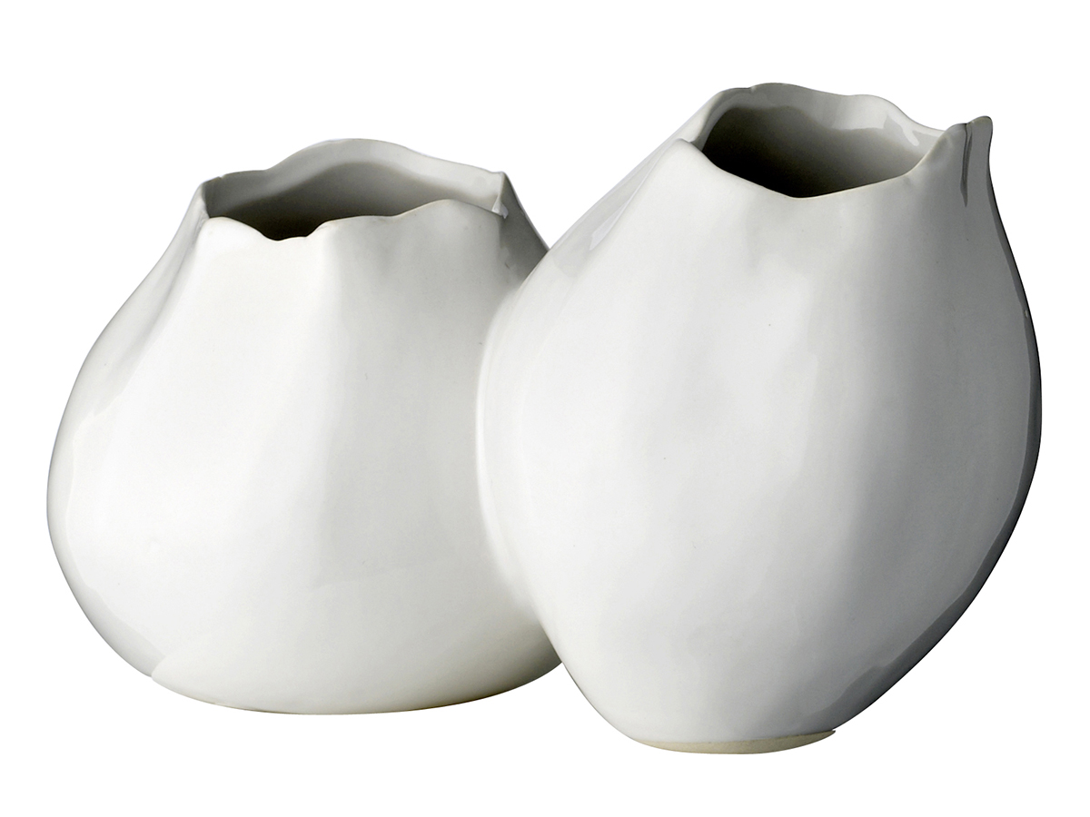 Ваза Double tulipВазы<br><br><br>Material: Керамика<br>Ширина см: 21<br>Высота см: 13<br>Глубина см: 12