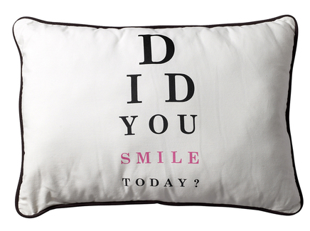 "Подушка ""Did you smile today"""