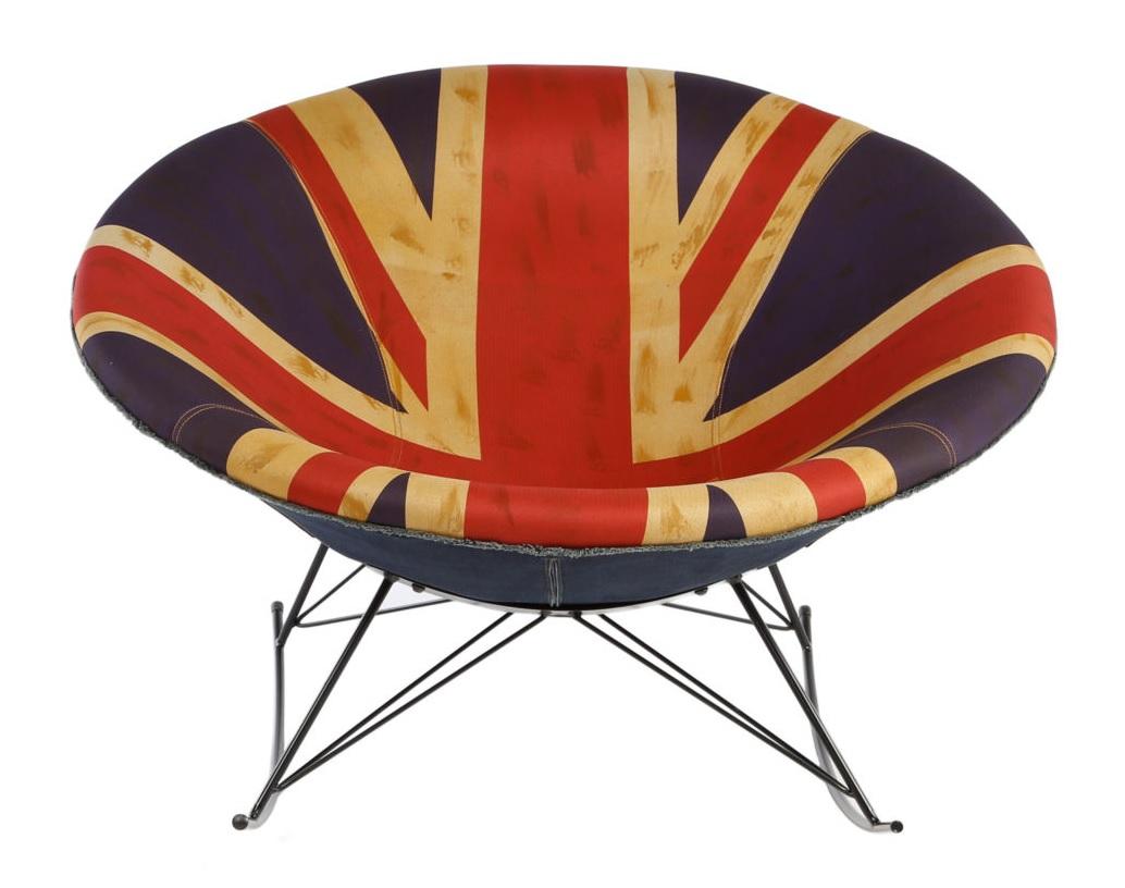 Кресло-качалка Greg UK FlagКресла-качалки<br><br><br>Material: Текстиль<br>Ширина см: 113<br>Высота см: 38<br>Глубина см: 113