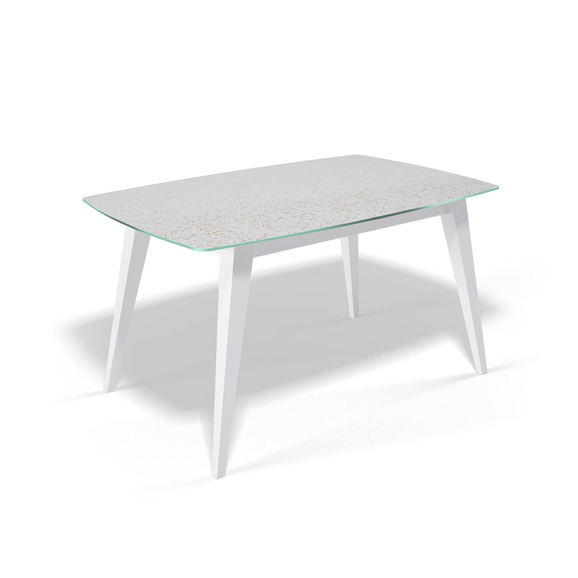 Стол обеденный KennerОбеденные столы<br>&amp;lt;div&amp;gt;Столешница выполнена из стекла &amp;quot;триплекс&amp;quot;(6 мм - два или более органических или силикатных стекла, склеенные между собой специальной полимерной плёнкой, способной при ударе удерживать осколки)  с тканью внутри.&amp;amp;nbsp;&amp;lt;div&amp;gt;Также используется органза с золотыми нитями, благодаря чему на столешнице не будут видны отпечатки пальцев и царапины.&amp;amp;nbsp;&amp;lt;div&amp;gt;Основание выполнено массива бука.&amp;amp;nbsp;&amp;lt;div&amp;gt;Стекло не боится влаги, бытовой химии, выдерживает перепады на горячие и холодные температуры.&amp;amp;nbsp;&amp;lt;div&amp;gt;За столом могут свободно разместиться 6 человек.&amp;lt;/div&amp;gt;&amp;lt;/div&amp;gt;&amp;lt;/div&amp;gt;&amp;lt;/div&amp;gt;&amp;lt;/div&amp;gt;<br><br>Material: Стекло<br>Ширина см: 140<br>Высота см: 76<br>Глубина см: 90